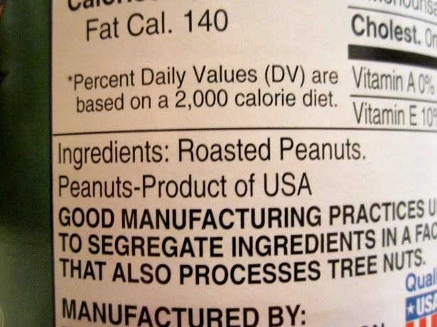 peanut butter ingredients